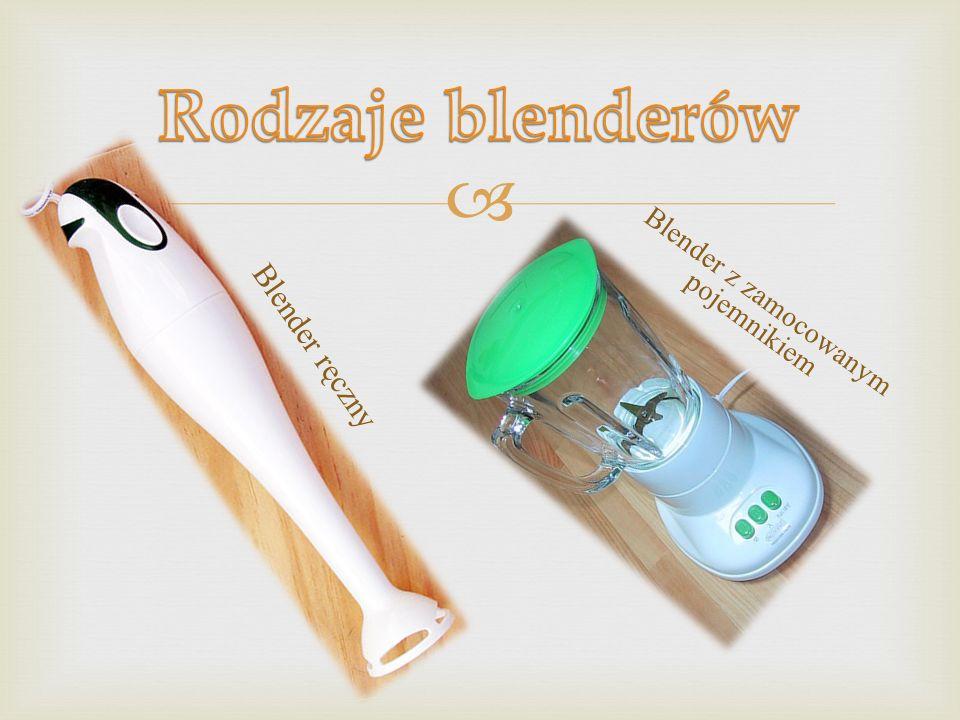 Blender z zamocowanym pojemnikiem