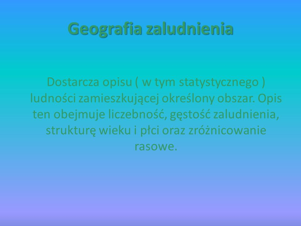 Geografia zaludnienia