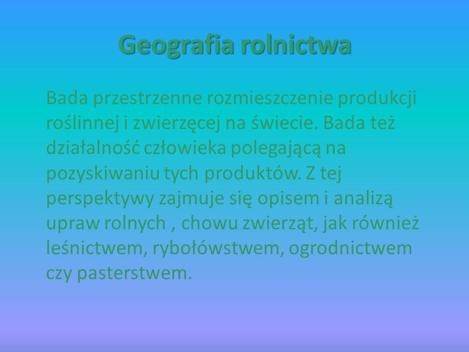 Geografia rolnictwa