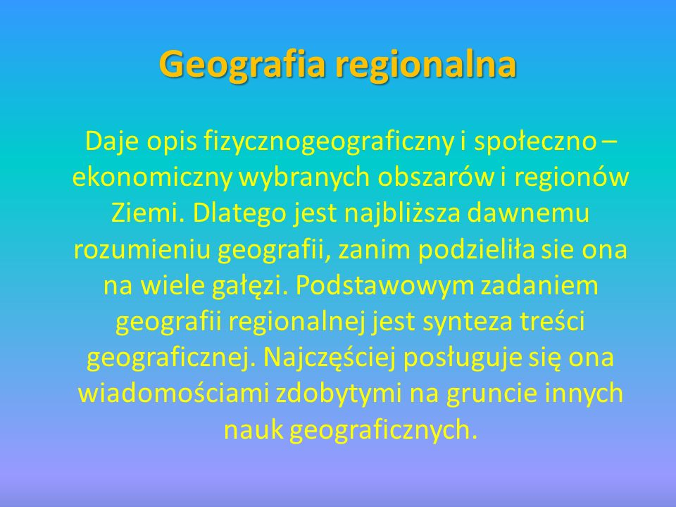 Geografia regionalna
