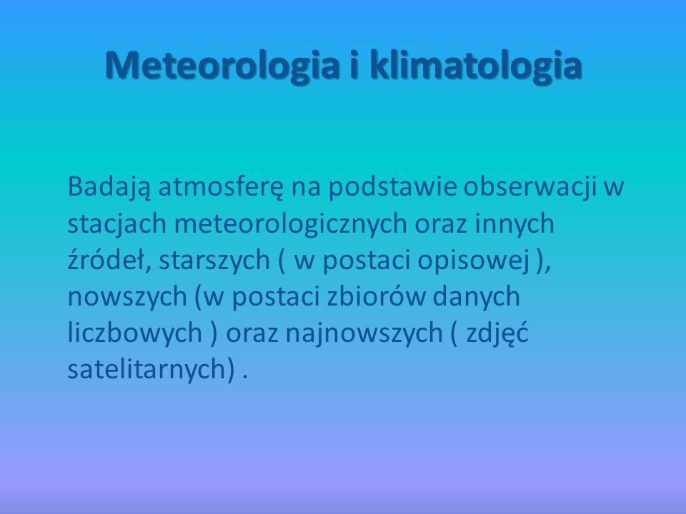 Meteorologia i klimatologia