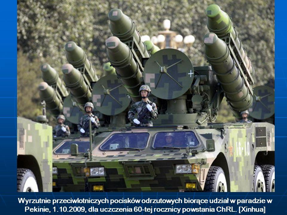 Wyrzutnie przeciwlotniczych pocisków odrzutowych biorące udział w paradzie w Pekinie, 1.10.2009, dla uczczenia 60-tej rocznicy powstania ChRL.