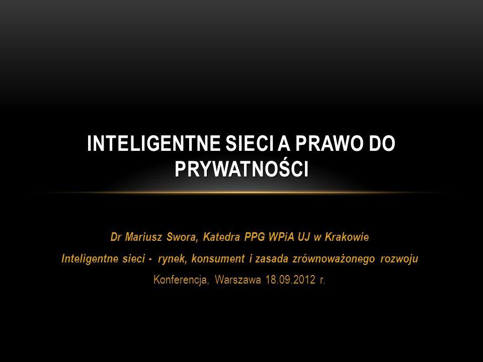 Inteligentne sieci a prawo do prywatności