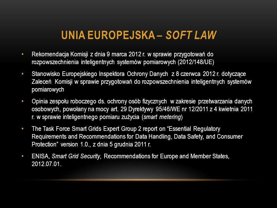Unia Europejska – soft law