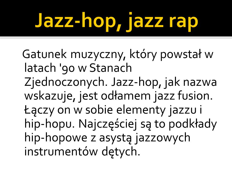 Jazz-hop, jazz rap
