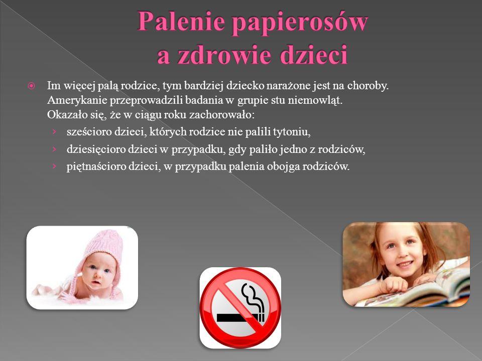Palenie papierosów a zdrowie dzieci