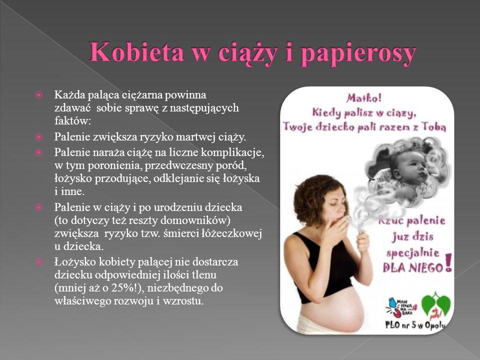 Kobieta w ciąży i papierosy