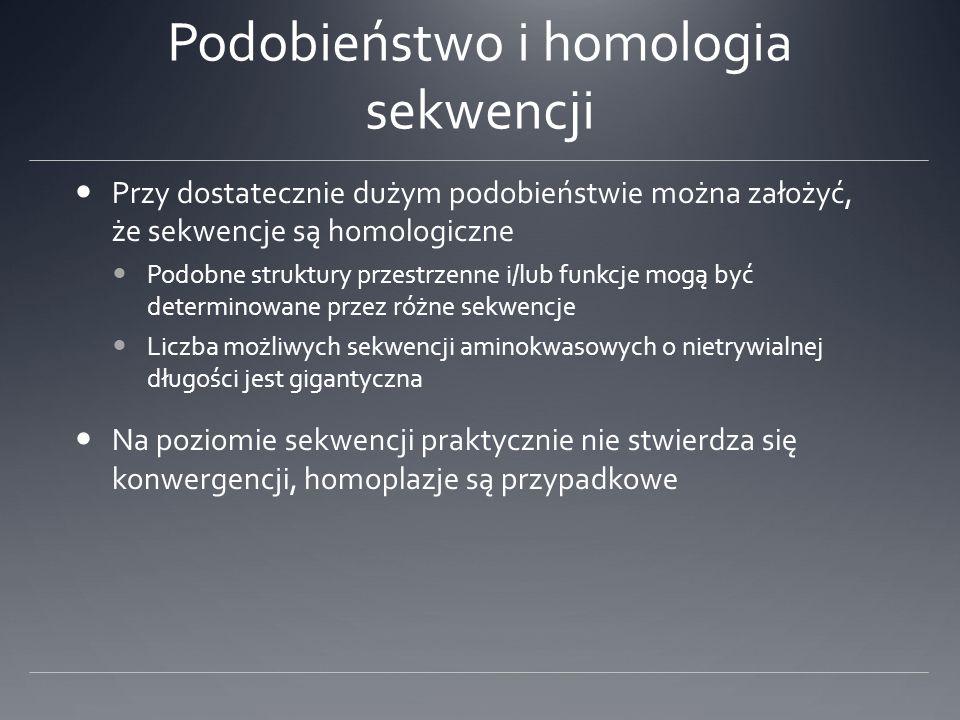 Podobieństwo i homologia sekwencji