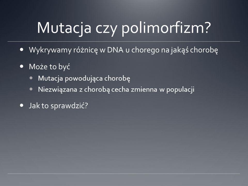 Mutacja czy polimorfizm