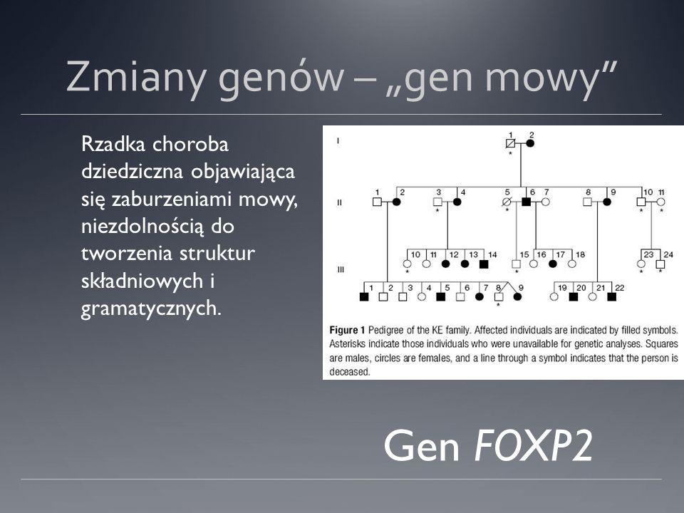 """Zmiany genów – """"gen mowy"""