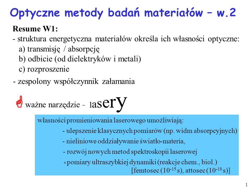 Optyczne metody badań materiałów – w.2
