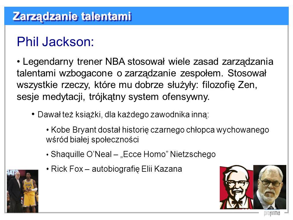 Phil Jackson: Zarządzanie talentami