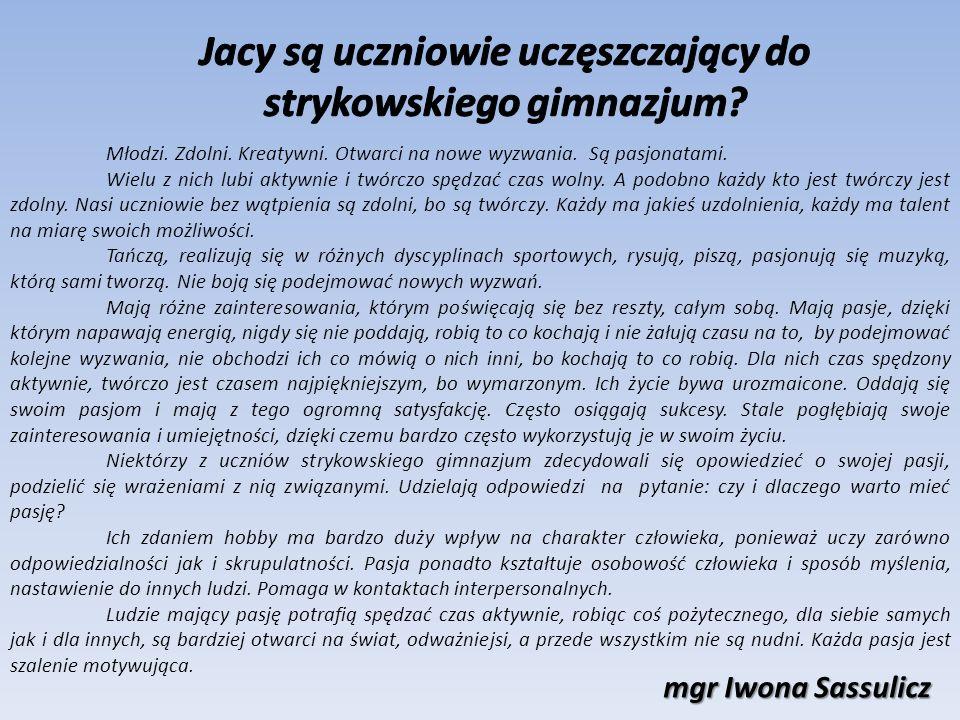 Jacy są uczniowie uczęszczający do strykowskiego gimnazjum