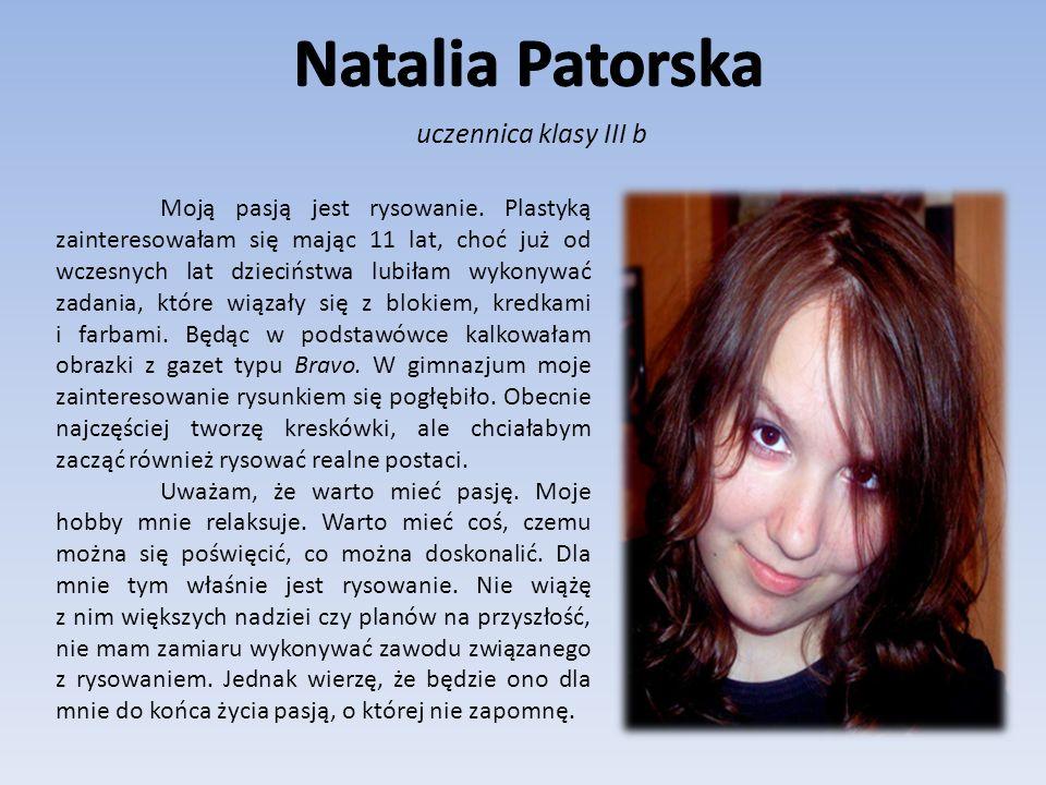 Natalia Patorska uczennica klasy III b