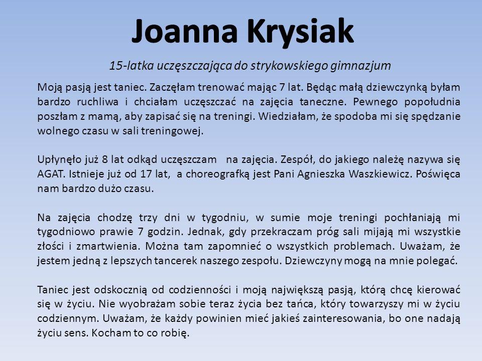 15-latka uczęszczająca do strykowskiego gimnazjum