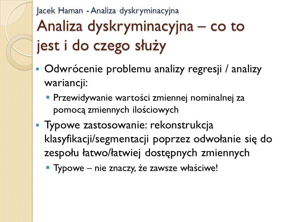 Odwrócenie problemu analizy regresji / analizy wariancji: