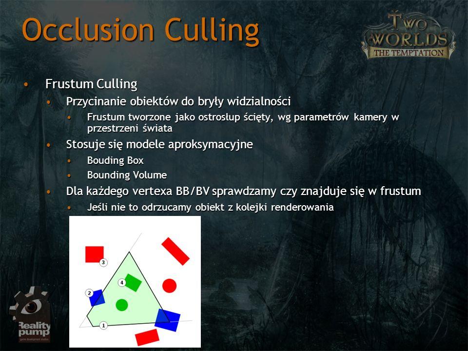 Occlusion Culling Frustum Culling