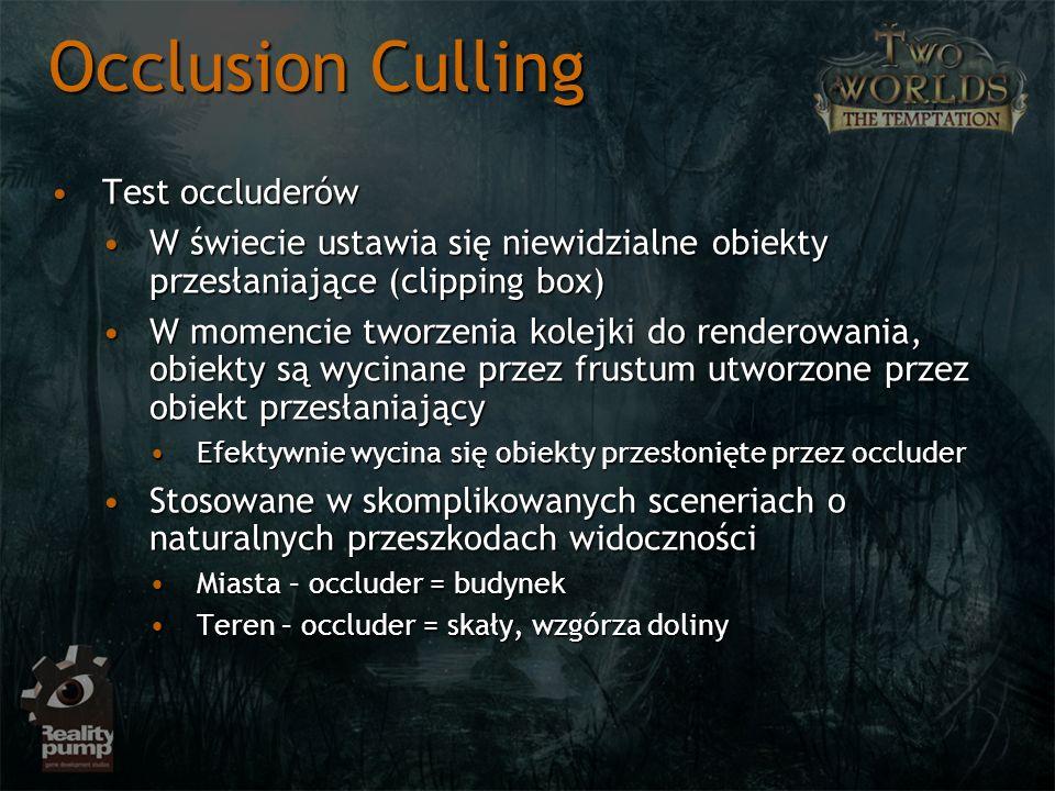 Occlusion Culling Test occluderów