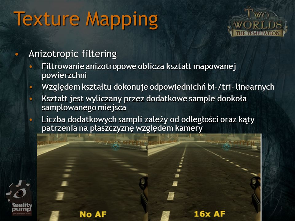 Texture Mapping Anizotropic filtering