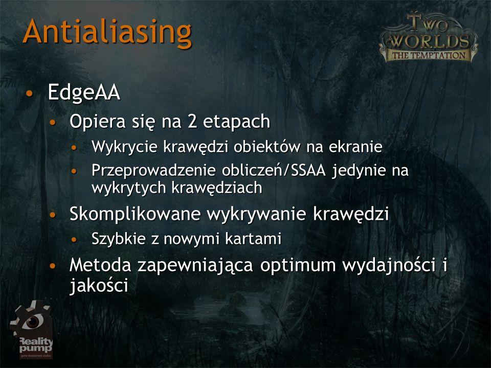 Antialiasing EdgeAA Opiera się na 2 etapach