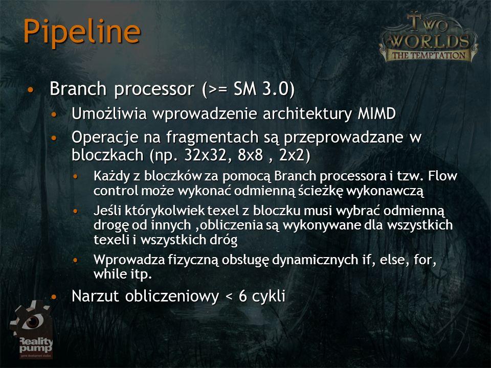 Pipeline Branch processor (>= SM 3.0)