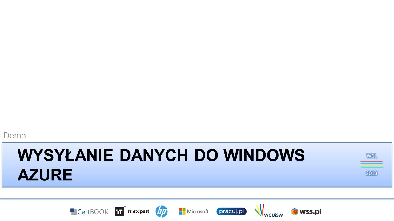 Wysyłanie danych do Windows Azure