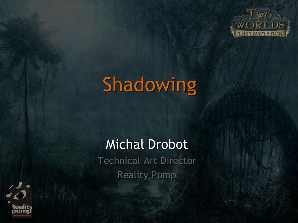 Michał Drobot Technical Art Director Reality Pump
