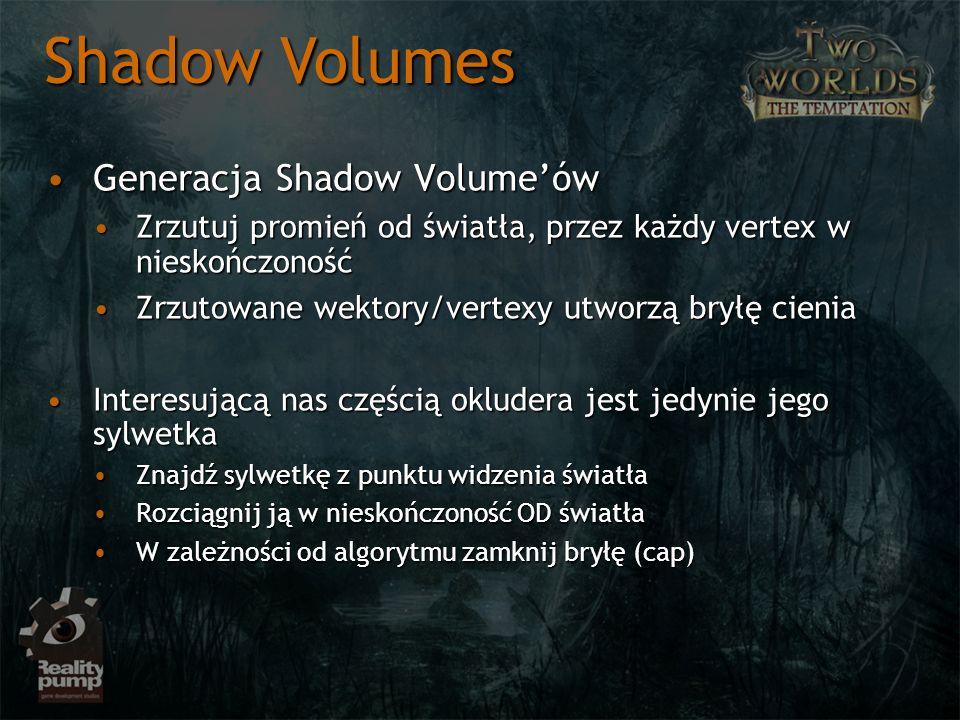 Shadow Volumes Generacja Shadow Volume'ów