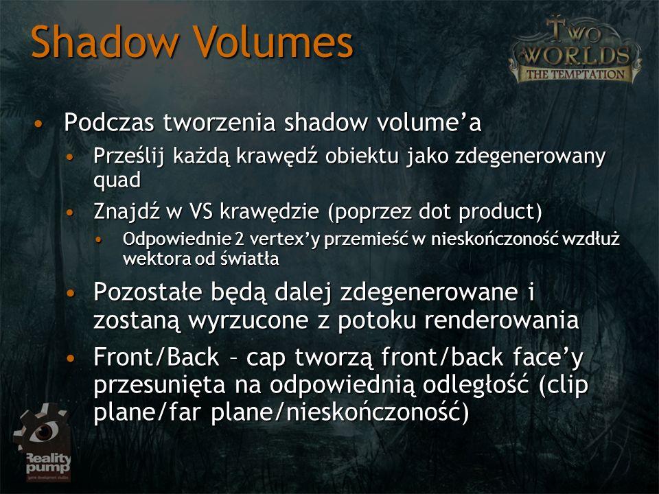 Shadow Volumes Podczas tworzenia shadow volume'a