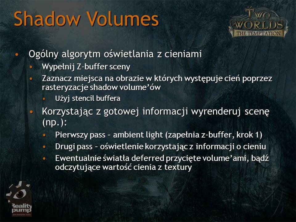 Shadow Volumes Ogólny algorytm oświetlania z cieniami