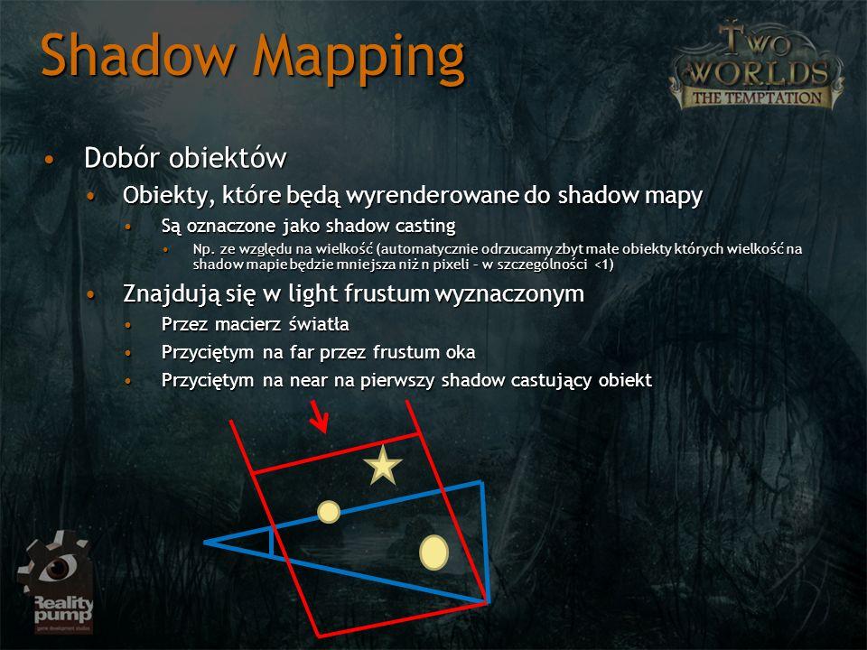 Shadow Mapping Dobór obiektów