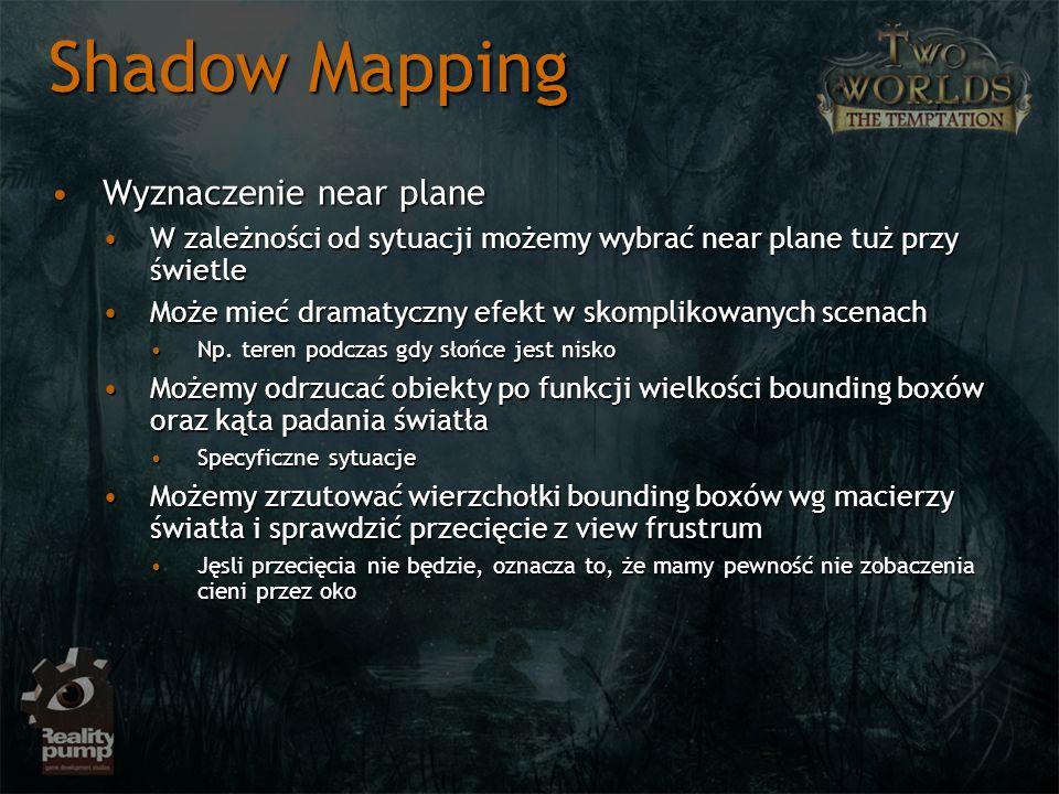 Shadow Mapping Wyznaczenie near plane