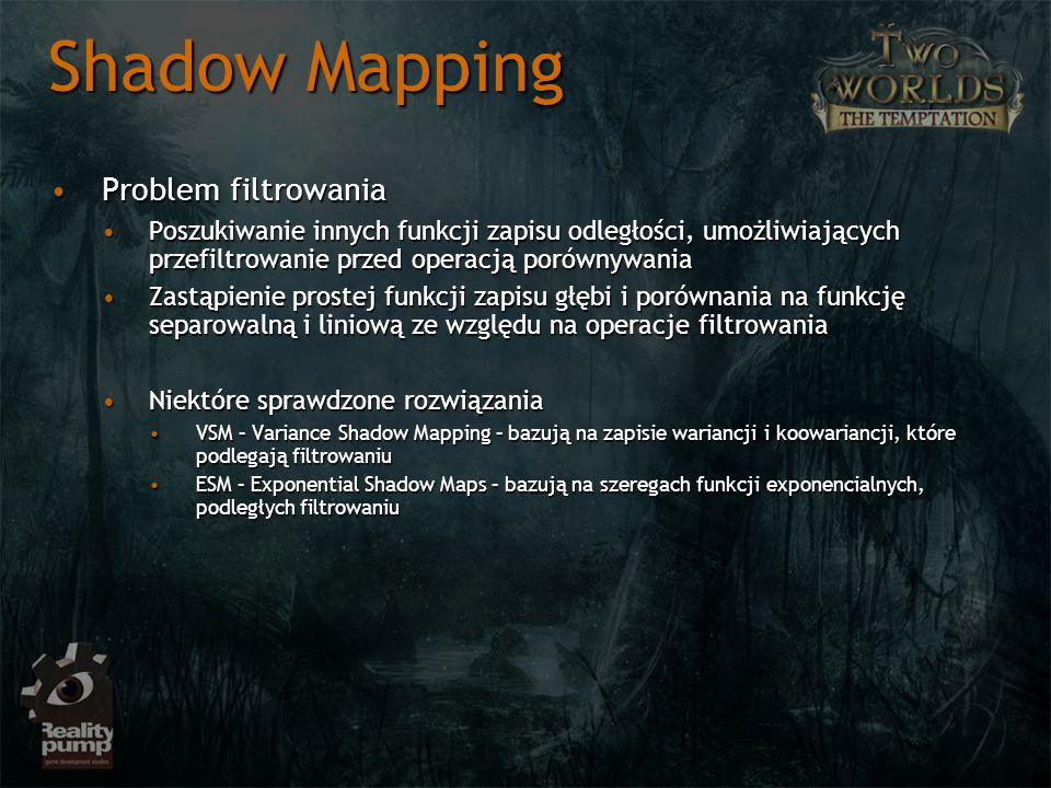 Shadow Mapping Problem filtrowania