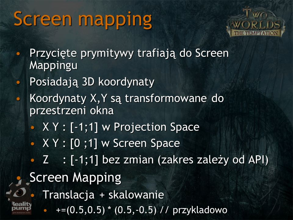 Screen mapping Screen Mapping
