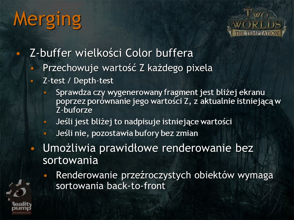 Merging Z-buffer wielkości Color buffera