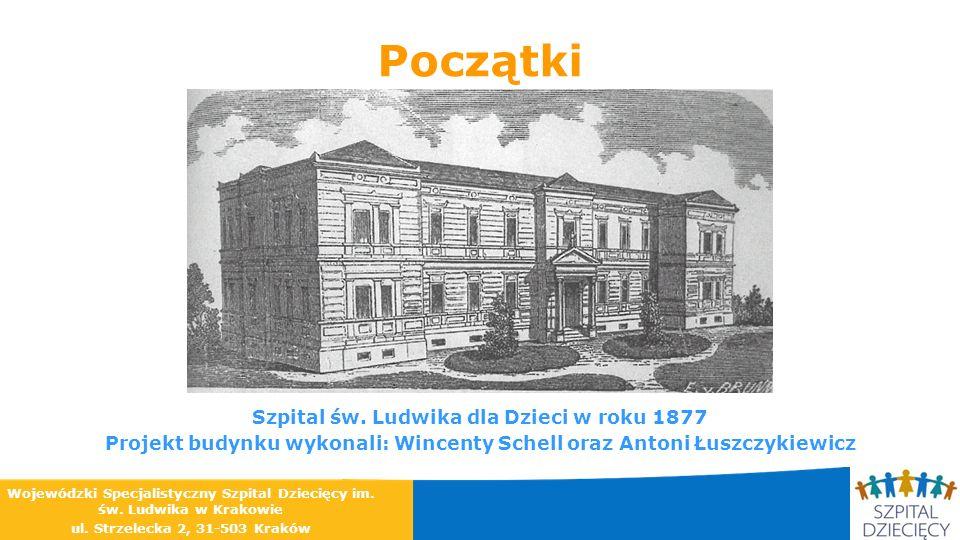 Początki Szpital św. Ludwika dla Dzieci w roku 1877