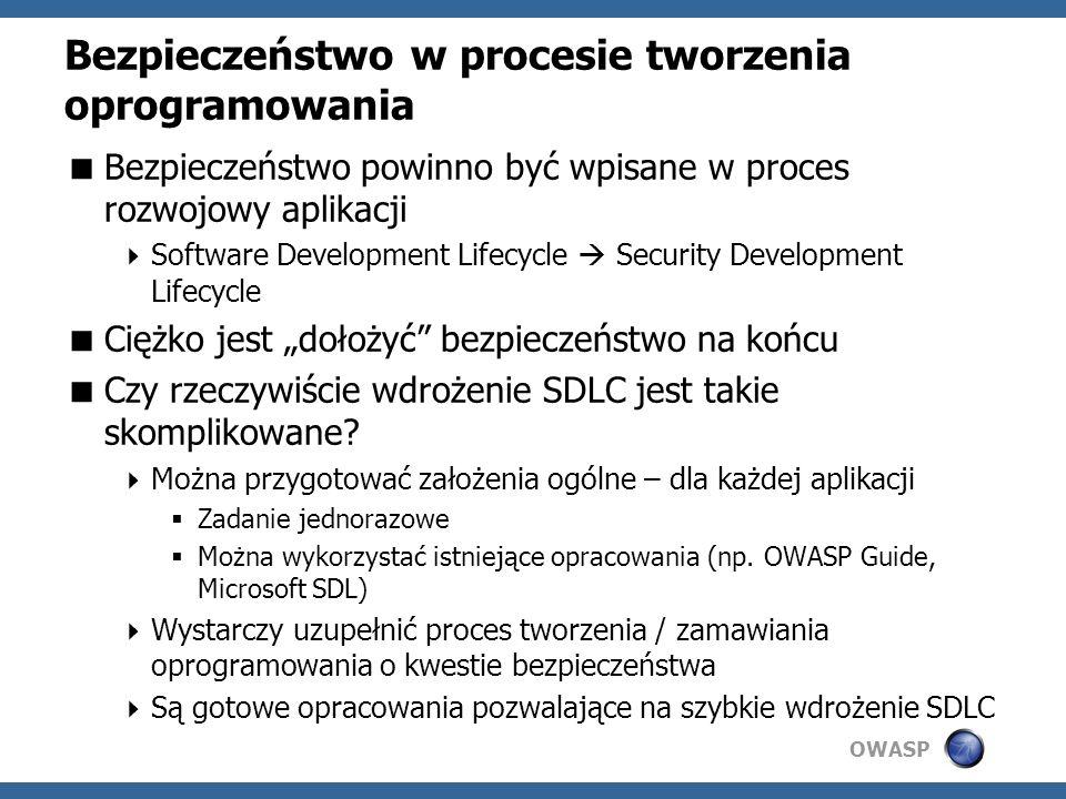 Bezpieczeństwo w procesie tworzenia oprogramowania