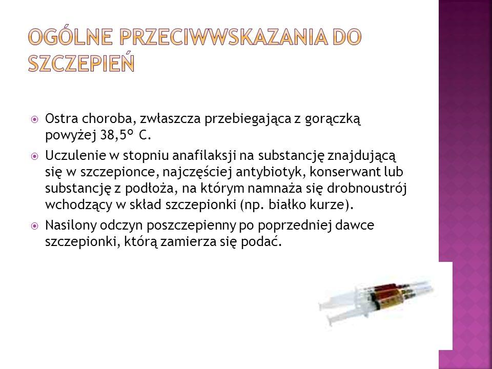 Ogólne Przeciwwskazania do szczepień