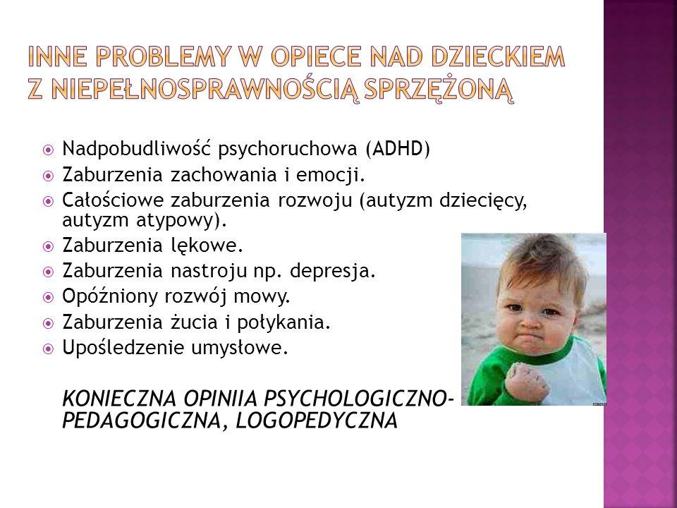 Inne problemy w opiece nad dzieckiem z niepełnosprawnością sprzężoną