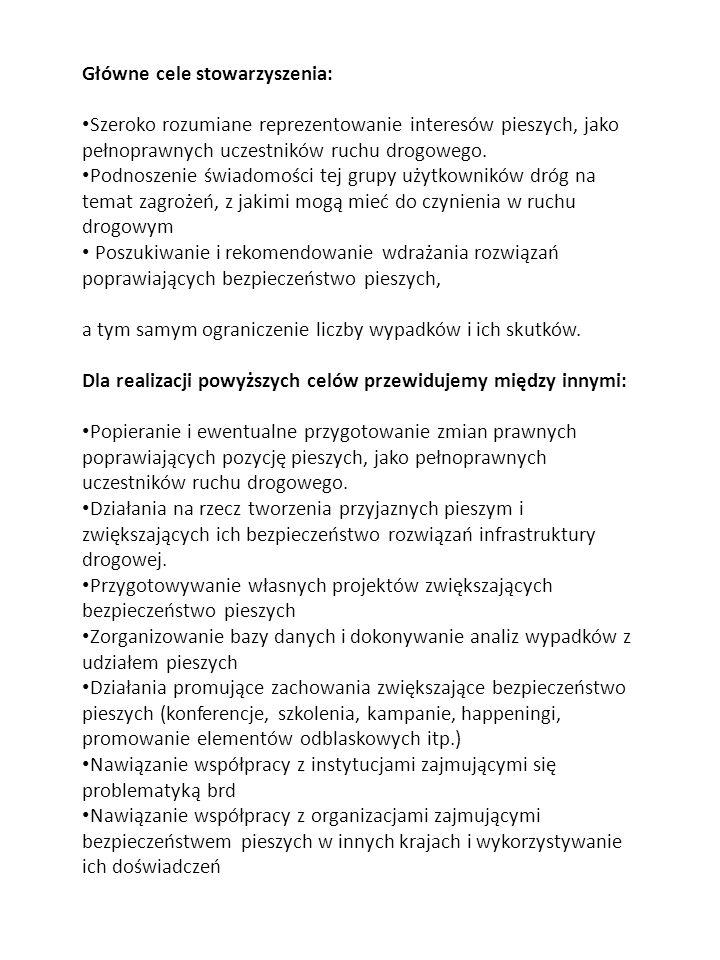 Główne cele stowarzyszenia: