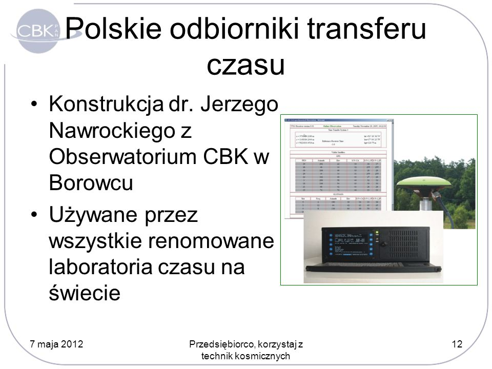 Polskie odbiorniki transferu czasu
