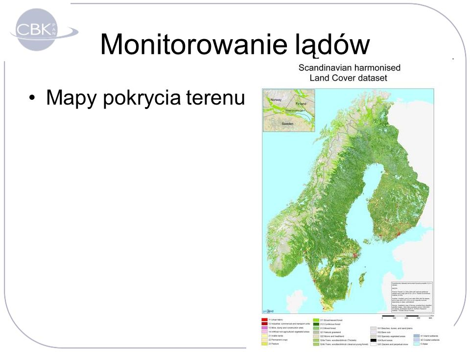 Monitorowanie lądów Mapy pokrycia terenu