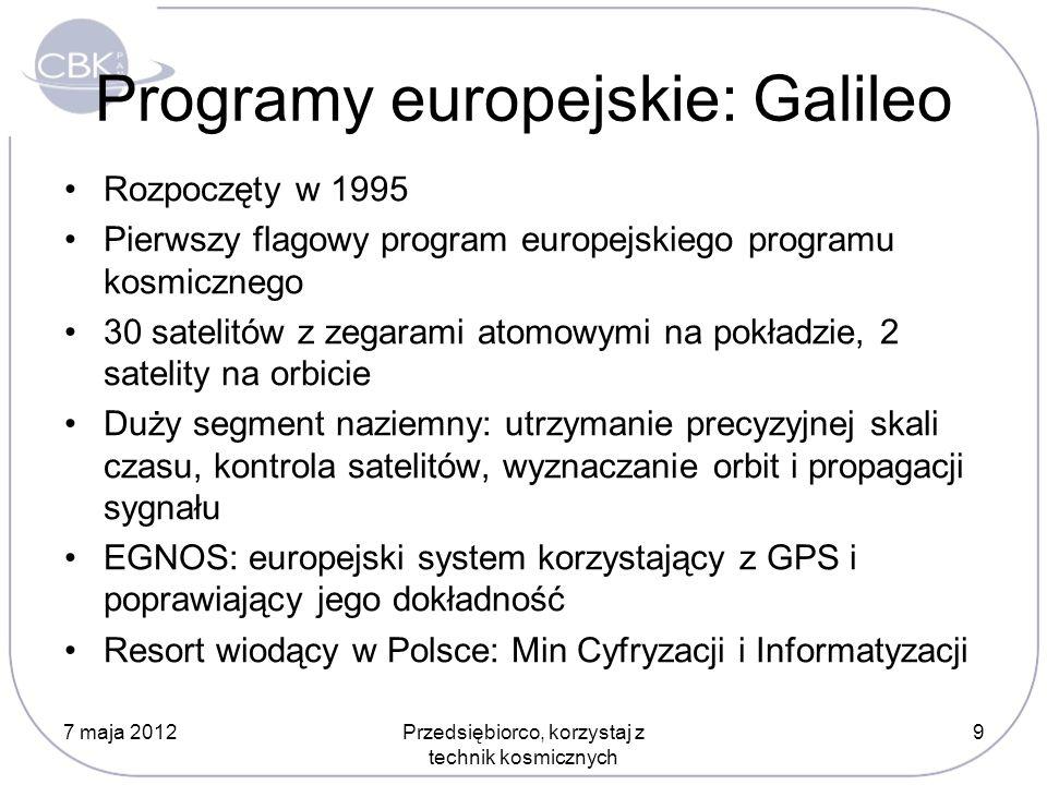 Programy europejskie: Galileo
