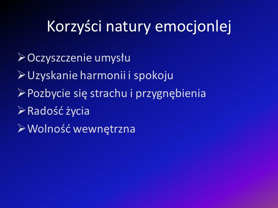 Korzyści natury emocjonlej