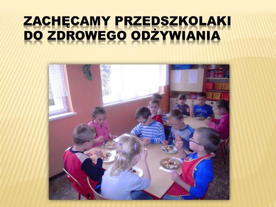 Zachęcamy przedszkolaki do zdrowego odżywiania