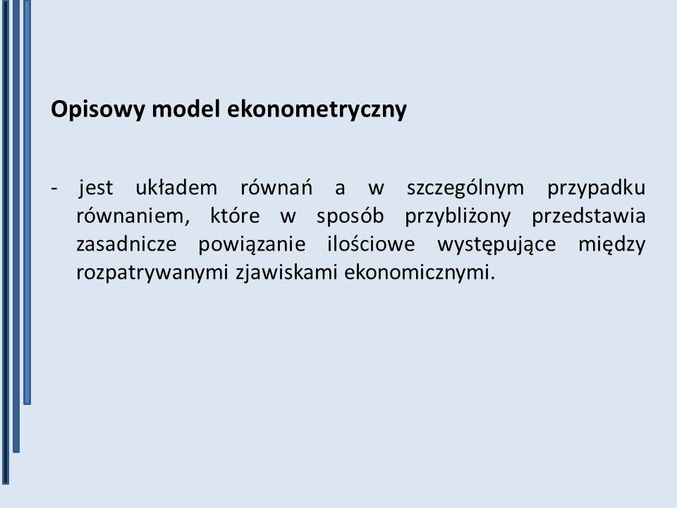 Opisowy model ekonometryczny
