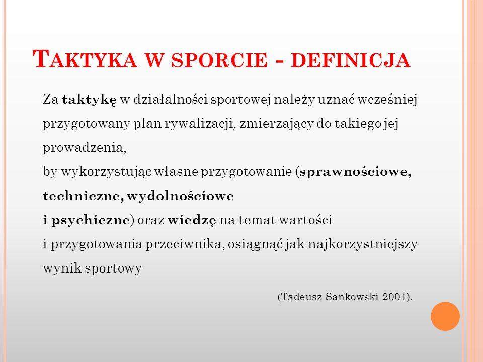 Taktyka w sporcie - definicja