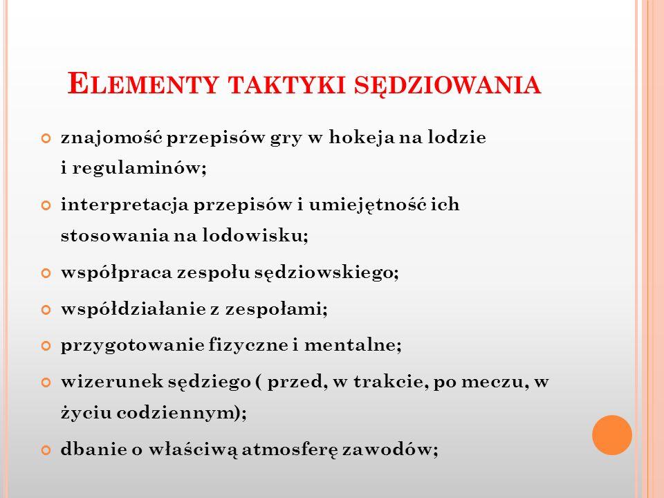 Elementy taktyki sędziowania