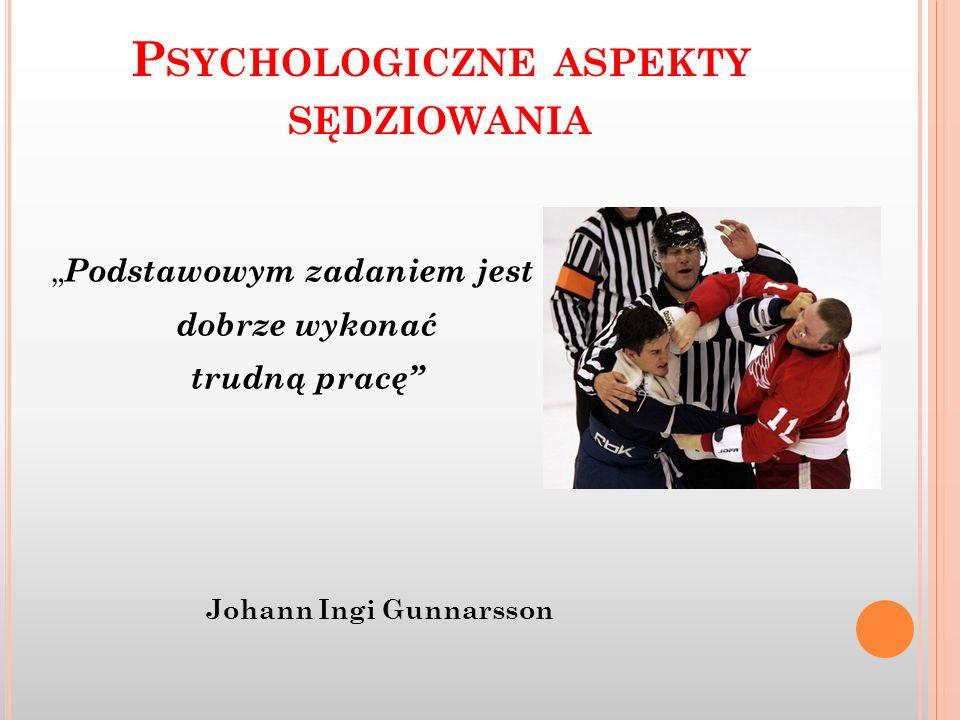 Psychologiczne aspekty sędziowania