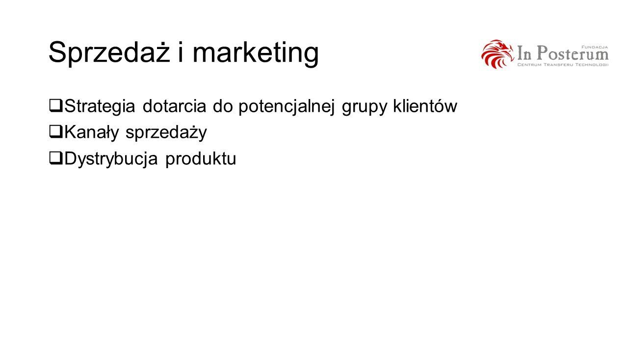 Sprzedaż i marketing Strategia dotarcia do potencjalnej grupy klientów